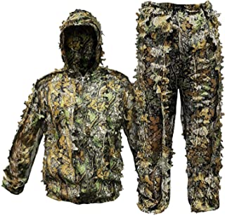 RUNPO Upgrade Ghillie Suit Outdoor 3D Lifelike Super...