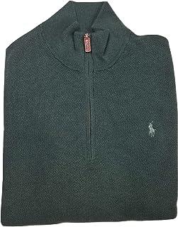 Ralph Lauren Polo Men's Textured Half-Zip Cotton Pullover...