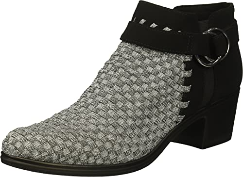 STEVEN by Steve Madden Wohommes NC-Puck Ankle Ankle Ankle démarrage, Pewter Multi, 7.5 M US 8a5