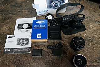 Samsung NX1000 Mirrorless Digital Camera with 20-50mm Lens, 20.3MP (Black)