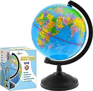 Little Chubby One 7-inch World Globe World - یک قطعه آموزشی و تزئینی - رنگارنگ و رنگارنگ و آسان برای خواندن Globe Globe ایده آل برای یادگیری جغرافیا و دکوراسیون عالی برای اتاق کودکان