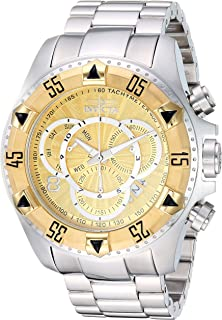 Invicta Men's Excursion Quartz Watch with Stainless Steel Strap, Silver, 26 (Model: 29636)