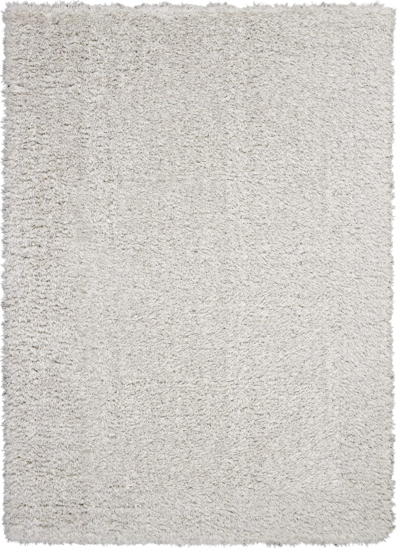 Nourison Ultra Popular standard Shag Grey Plush Area LT x 5' Rug 7' San Jose Mall 5'X7'