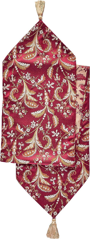 Violet Linen Decorative Luxury Now free shipping Damask Table Cheap SALE Start Runne Design Vintage