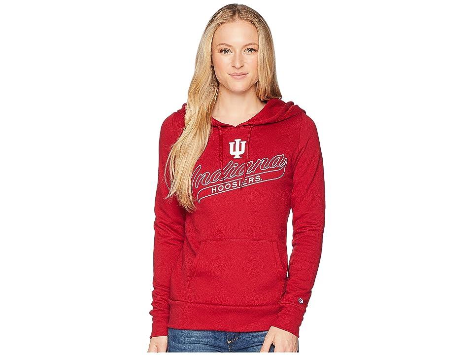Champion College Indiana Hoosiers Eco University Fleece Hoodie (Cardinal) Women