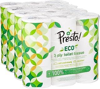 Marca Amazon - Presto! Papel higiénico de 3 capas ECO - 36