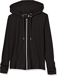 Women's Tall Plus Size Ruched Long Sleeve Zip Front Hoodie