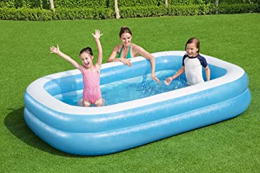 Bestway 54006E H2OGO Family Inflatable Set, 8ft 7in x 20in | Above Ground Pool, Blue