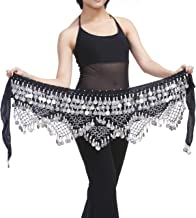 Saymequeen Belly Dancing Dance Waist Chain Hip Scarf Skirt Belt with 320 Coins