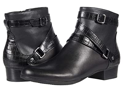 Trotters Mika (Black Veg Calf Leather) Women