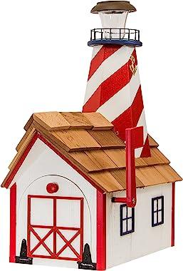 Patriotic Lighthouse Mailbox