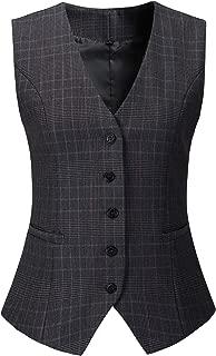 Women's Fully Lined 5 Button V-Neck Economy Dressy Suit Vest Waistcoat