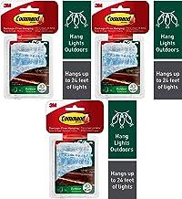 Command Outdoor Touw Licht Clips met Foam Strips, Helder, 3 Pack, 36-Clips Totaal (17301CLRAW-ES)