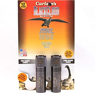 Carlson's Choke Tube Beretta Benelli Mobil Black Cloud Waterfowl Choke Tube12 Gauge, MR & LR, Black