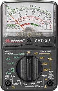 Gardner Bender GMT-318 Analog Multimeter, 6 Function, 14 Range, AC / DC Volt