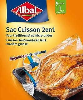 Albal - Paquete de 5 Sacs Cuisson, Four et Micro-ondes, régulateur de cuisson, Capacité 5 kg