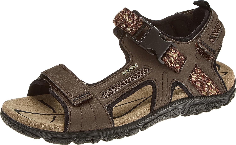 Geox Men's men Sandal Strada a Ankle Strap