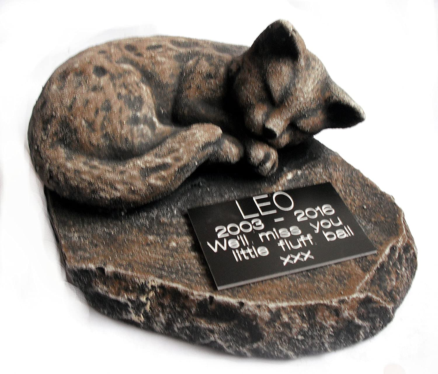 ClassCast Larger Sleeping CAT MEMORIAL PERSONALISED Stone Genuine Free shopping Shipping Rock S