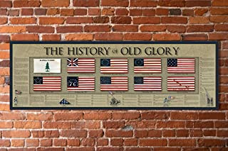 """The History of Old Glory Print - 11 3/4"""" by 36"""" - American Flag Timeline"""