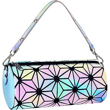 Medium crossbody purse. Geometric hexagon bag for women in dark gray