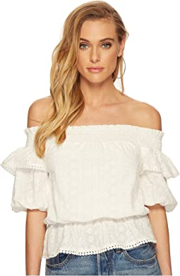 J.O.A. - Off the Shoulder Top with Puff Sleeves