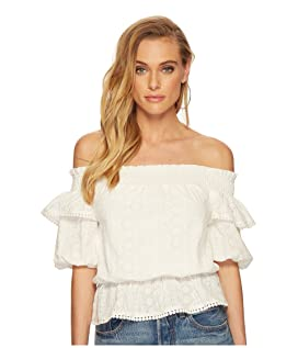 Off the Shoulder Top with Puff Sleeves