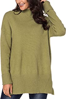 Blibea Womens Turtleneck Long Sleeve Slim Fit Knitted Pullover Sweater Jumper