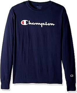 Champion Men s Classic Jersey Long Sleeve Script T-Shirt 641c1d91d