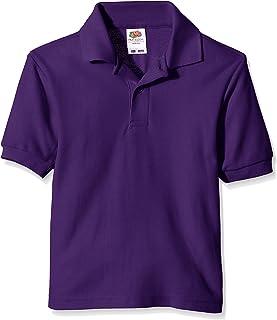 Fruit of the Loom Unisex Kids 65/35 Short Sleeve Polo Shirt