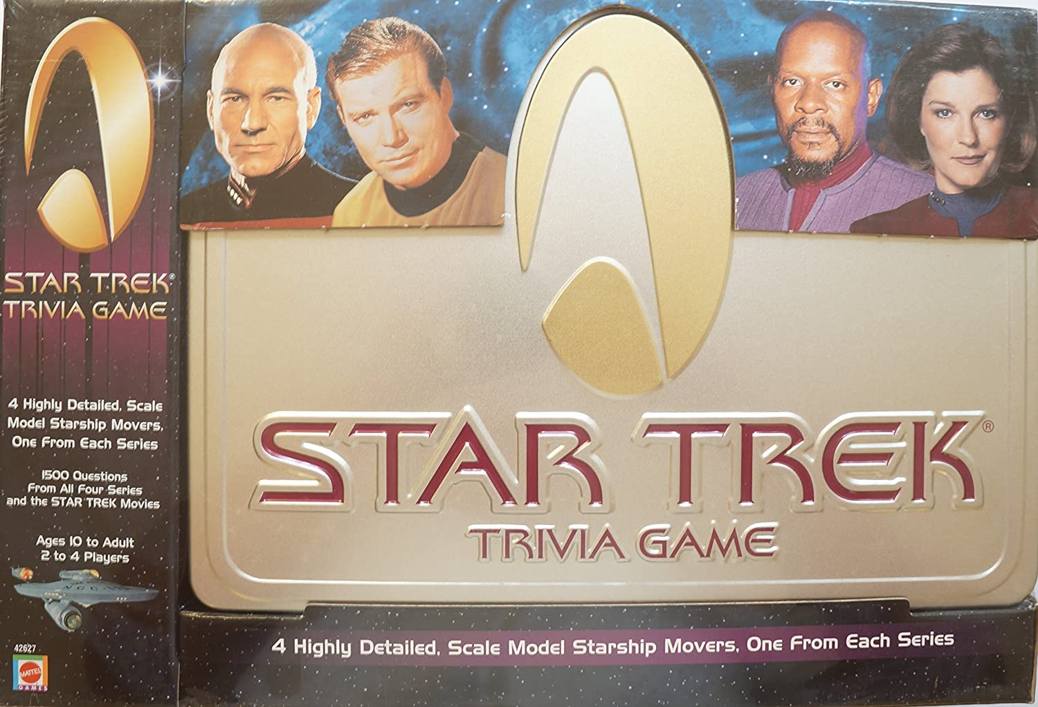 Star Trek Trivia Game in large collectible tin by Mattel