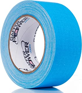 Real Professional Grade Gaffer Tape by Gaffer Power, Made in The USA, Blue Fluorescent 2 Inches by 30 Yards, UV Blacklight Reactive Fluorescent, Heavy Duty Gaffers Tape, Non-Reflective, Multipurpose.
