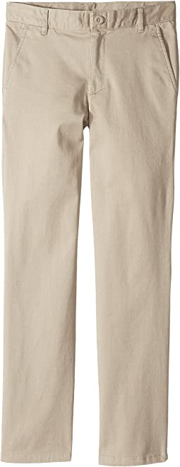 Nautica Kids Regular Flat Front Twill Stretch Pants (Big Kids)