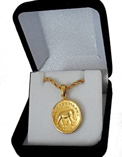 Golden Artifacts Marcus Aurelius, Philosopher King, Roman Coins, Pendant and Chain, Roman Empire (26PC-G)