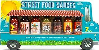 Modern Gourmet Foods - Street Food Saucen Geschenkset - Food Truck Weihnachtsset Mit 7 Würzigen Fleisch- und Grillsaucen