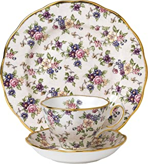 Royal Albert 3 Piece 100 Years 1940 Teacup, Saucer & Plate Set, 8