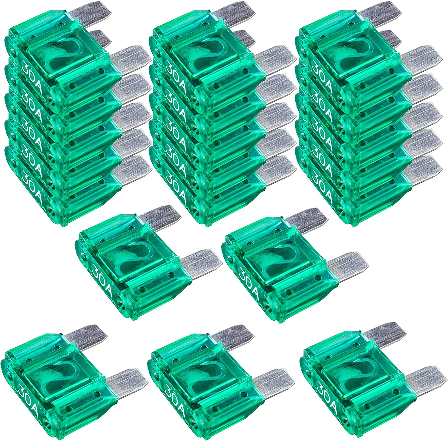 20 Pack Mail order 30 AMP Platinum APX MAXI Blade Truck Boat Excellent M Car Fuse 30A
