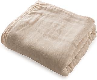 mofua (モフア) ひざ掛け ハーフケット 綿100% 日本製 6重ガーゼ 三河木綿 洗うたびにふっくら マルチ(ハーフサイズ 140×100cm) ベージュ 33001405