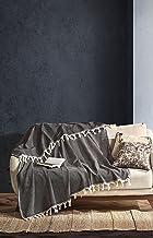 BOHORIA® Narzuta premium Tulum – narzuta na łóżko, koc dwustronny, koc na sofę, koc z wzorem | bardzo duża, 170 x 230 cm (...
