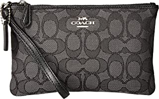 COACH Womens Boxed Small Wristlet In Signature Jacquard