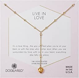 Dogeared - Live In Life, Puffy Heart Y-Necklace