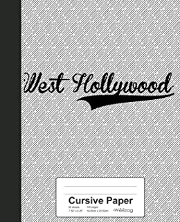 Cursive Paper: WEST HOLLYWOOD Notebook