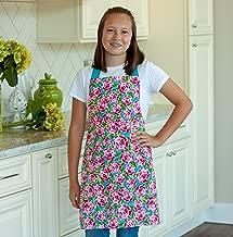 Handmade Pink Preppy Rose Tween Girl Apron Gift for Kitchen Baking or Art