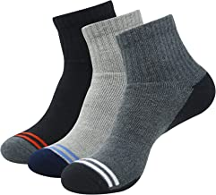 Balenzia Men's Cushioned High Ankle Sports Socks- Black,L.Grey, D.Grey,White,Navy(Pack of 3)