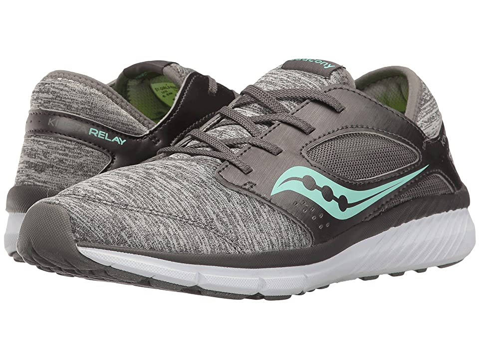 Saucony Kids Kineta Relay (Big Kid) (Grey Heather/Turquoise) Girls Shoes