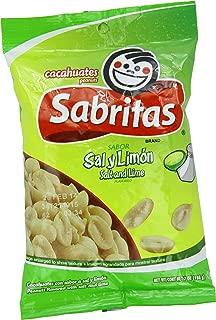 Sabritas Salt And Lime Peanuts, 7-Ounce (Pack of 6)