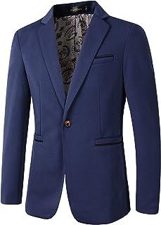 Beninos Men's Slim Fit Casual One Button Blazer Jacket