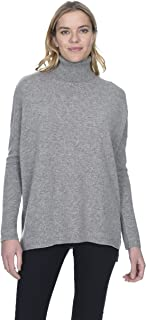 State Cashmere Women's 100% Pure Cashmere Tunic Turtleneck Sweater