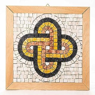 Idea regalo Aniversario Nudo de Salomón - Kit mosaico estilo romano 23x23 cm - Teselas mosaico mármol italiano - Mosaicos ...