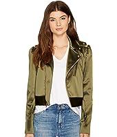 Nicole Miller - Luxe Satin Moto Jacket