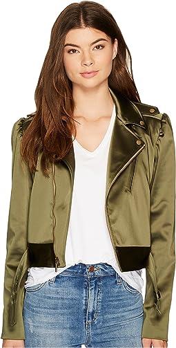 Luxe Satin Moto Jacket
